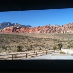 Partial view from the visitors center window