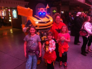Fremont Street Bumble Bee Transformer