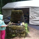 Tollgate Campground Host Site Fireplace