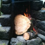 Tollgate Campground - Host Site Stone Fireplace